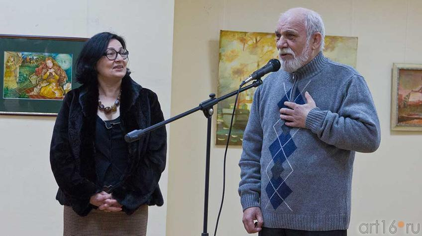 """Фото №94849. Р.Нургалеева, В.Аршинов. Открытие выставки """"У женщины своя душа..."""""""