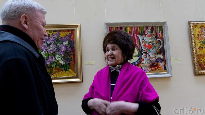 """Фото №94865. Ренат Харис, Рушан Якупова. На открытии выставки """"У женщины своя душа..."""""""