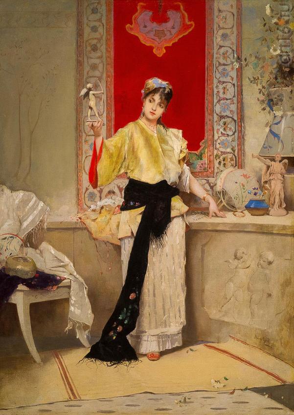 Э.Л. ПИНШАР (Emil August Pinchart). 1842-1924::Веер. Хранитель красоты и тайн