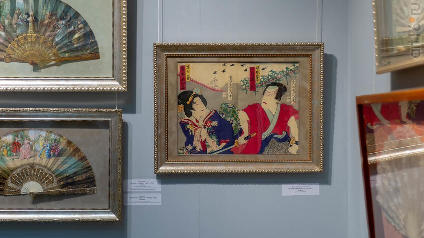 Фото №954421. Т. Кунитика. 1835-1900. Актеры театра Кабуки. 1890-е. Япония (в центре)