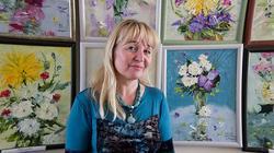 Миля Нуруллина и ее картины. 8 марта 2012,  НМ РТ
