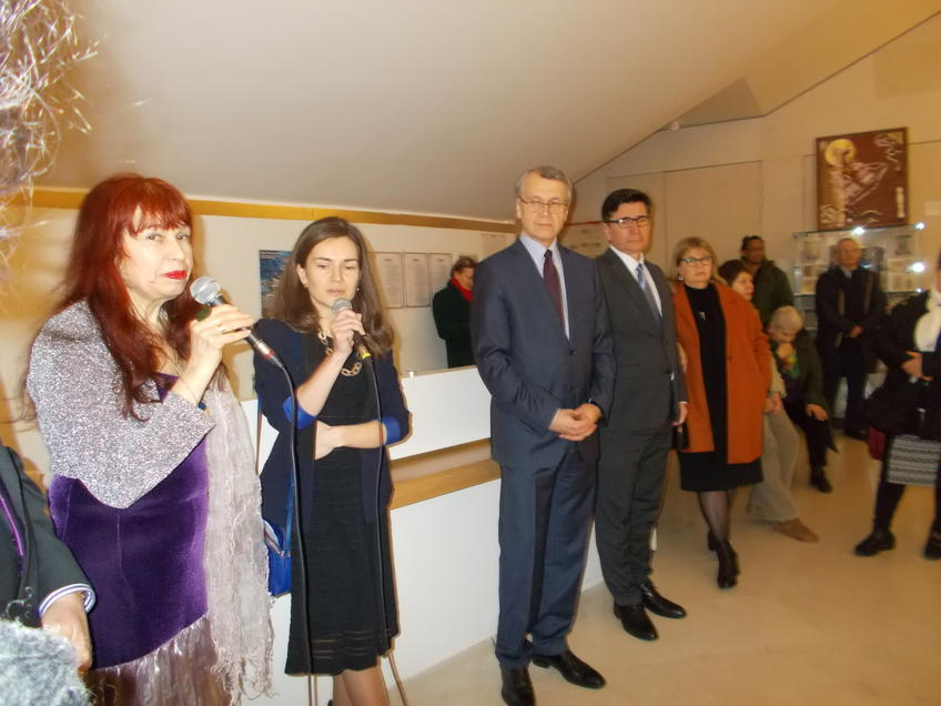 Посол России во Франции Леонид Юрьевич Кадышев на открытии выставки::«Чудо-остров Свияжск - культурное наследие Татарстана» в Париже