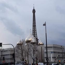 Вид на Российский духовно-культурный православный центр в Париже