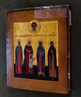 Избранные святые: Великомученницы Варвара, Улита, Екатерина, Преподобная Евдокия. XVIII