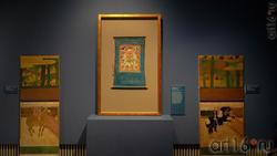 Ширма с изображением лошадей / Буддийский образ Чингисхана /Ширма с изображением лошадей