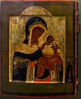 Богоматерь Голубицкая. С предстоящей святой преподобной Анастасией. XVII