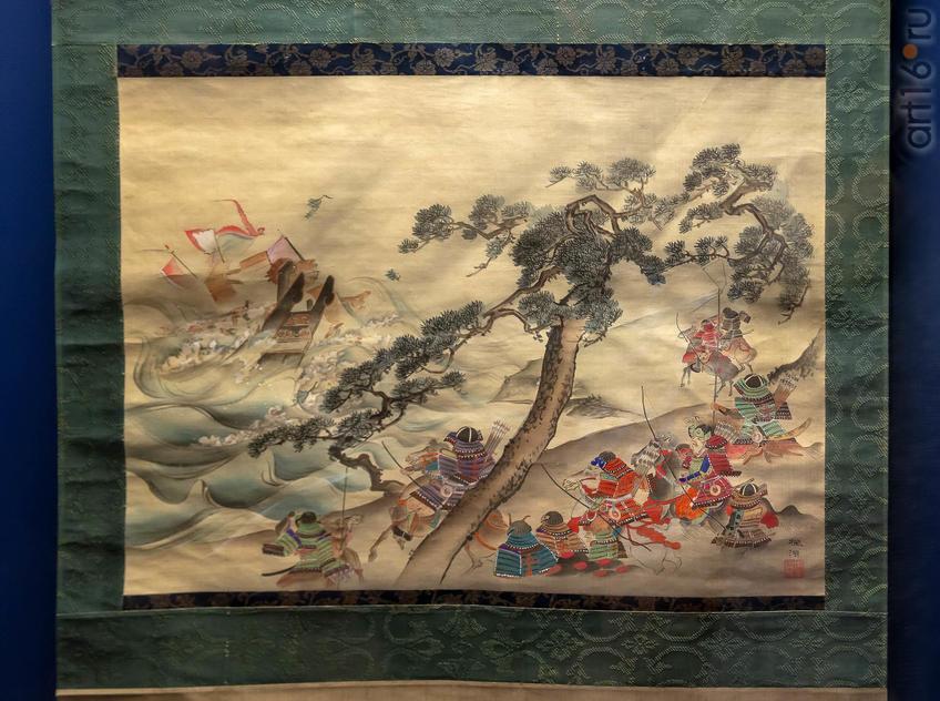 Фото №955561. Картина-свиток «Божественный ветер». Монгольская империя и Япония (XIII-XIV вв.)