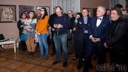 На открытии выставки Н. Альмеева в Казанской Ратуше