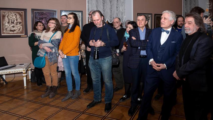 Фото №955888. На открытии выставки Н. Альмеева в Казанской Ратуше