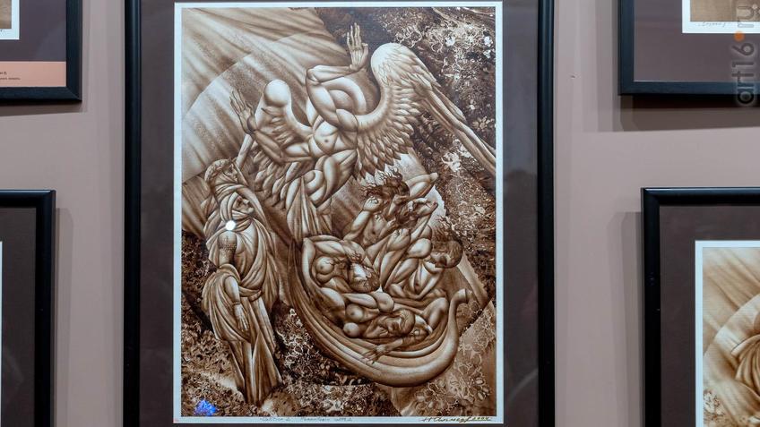 Фото №955918. Новоприбывшие души умерших. Песнь 2. Реминисценции Данте, Чистилище. 1996-2006. Альмеев Н.