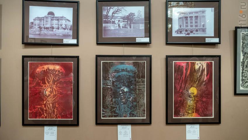 Фрагмент экспозиции, посвященный трагедии в Хиросиме. Н.У.Альмеев::03.04.2019 Надир Альмеев «Шум времени»