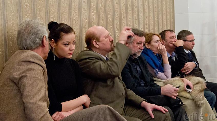Фото №95627. На литературном вечере ''Поэтические шахматы. Эдуард Учаров – Филипп Пираев''