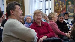 Татьяна Голубцова на открытии выставки А.Абзгильдина