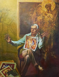 Портрет искусствоведа Алпатова. Абзгильдин А.А. 1937