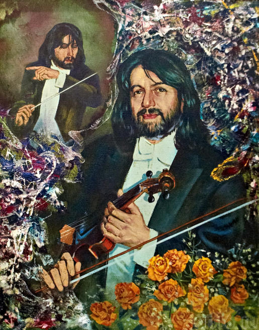 Портрет Рустема Абязова. 2003. Абзгильдин А.А. 1937:: Абрек Абзгильдин