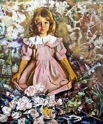 Портрет внучки. 1998. Абзгильдин А.А. 1937