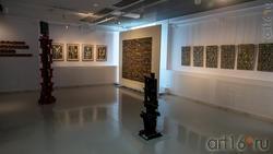 Фрагмент экспозиции выставки художников Дагестана в ГСИ ГМИИ РТ