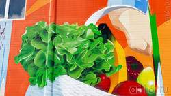 Фрагмент росписи на стене ТЦ