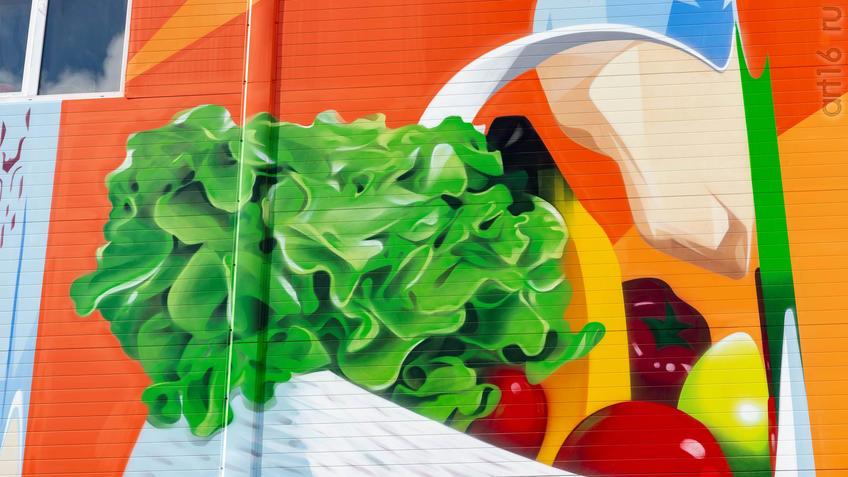 """Фото №961254. Фрагмент росписи на стене ТЦ """"Магнит"""", автор Александр Демкин (Россия)"""