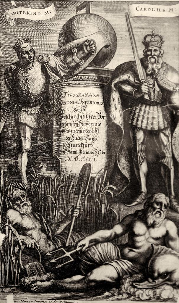Фото №96129. Топография Саксонии. 1653. Титульный лист. Матеус Мериан I (1593-1650)