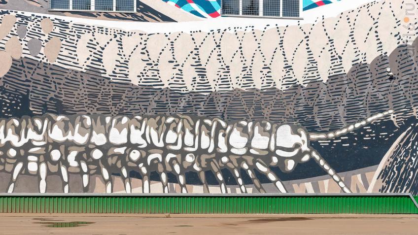 Котельной АПТС №2  - Артем Стефанов (Москва) - ул. Белоглазова::Паблик-арт программа «Сказки о золотых яблоках»