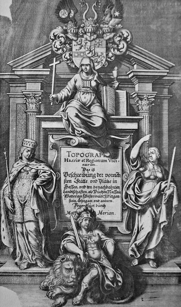Фото №96137. Топография земли Гессен. 1653. Матеус Мериан I (1593-1650)