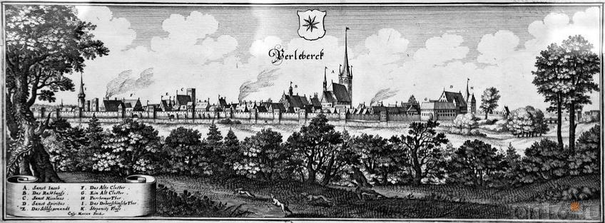 Фото №96141. Вид Ферлеберка. Каспар Мериан I (1627-1686)