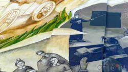 Фрагмент мурала-портрета Ризы Фахретдинова. Автор: Дима Fatum (Украина)