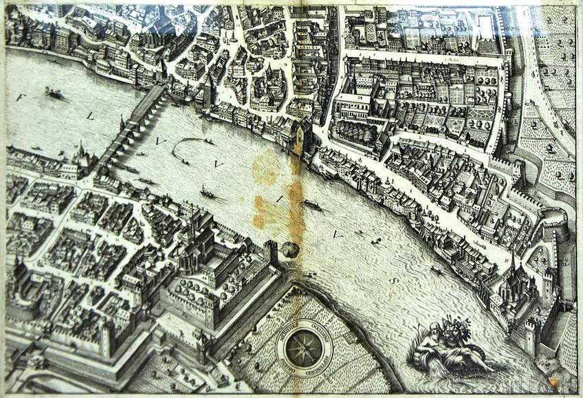 Фото №96149. Вид Базеля. 1615. (фрагмент). Маттеус Мериан I (1593 -1650)