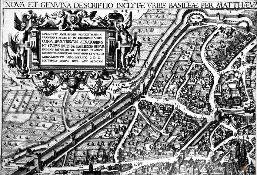 Фото №96157. Вид Базеля. 1615.  (фрагмент). Маттеус Мериан I (1593 -1650)