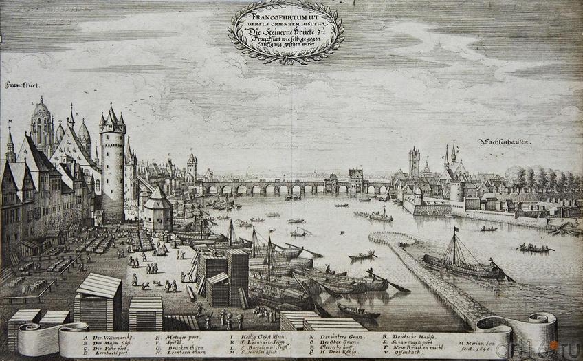 Фото №96161. Вид Франкфурта с восточной стороны. 1646. Маттеус Мериан I (1593 -1650)