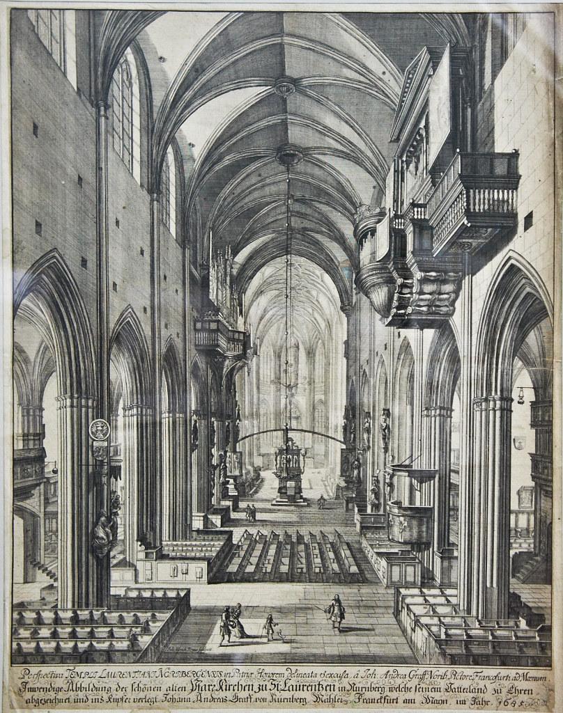 Фото №96173. Внутренний вид церкви св. Лаврентия (Лоренцкирхе). 1685. Краус, Иоган Ульрих (1655-1719)