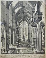 Внутренний вид церкви св. Лаврентия (Лоренцкирхе). 1685.  Краус, Иоган Ульрих (1655-1719)