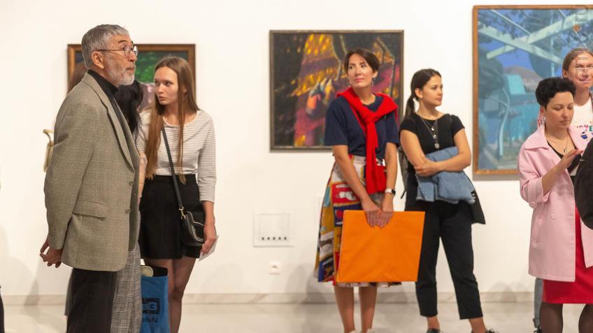 На открытии выставки А.Акилова ʺК солнцуʺ::Александр Акилов. К солнцу