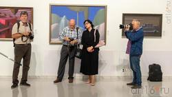 На открытии выставки А.Акилова