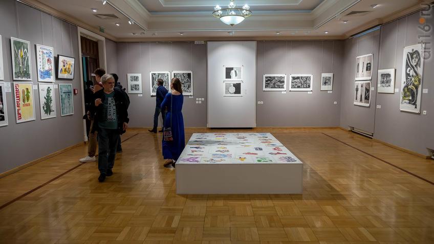Фото №962032. В экспозиции выставки V Казанской междунар. биеннале печатной графики, 2019