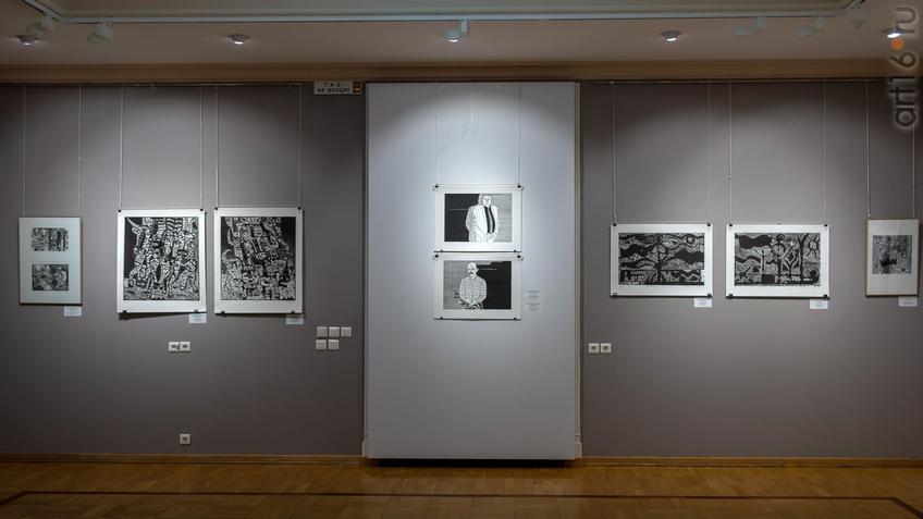 Фото №962067. Фрагмент экспозиции V Казанской международной биеннале печатной графики
