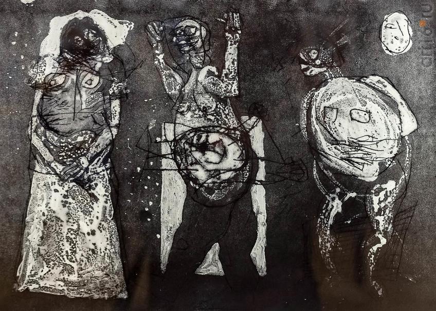 Невеста. 2019. Алаа Шараби. 1988, Сирия, Дамаск::5-я Казанская международная биеннале печатной графики «Всадник»