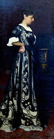 Портрет Александры Эмильевны Визель - жены художника. Нач. 1900-х. Визель Э.О.