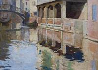 Венеция. Мост через канал. 1910-е. Визель Э.О.