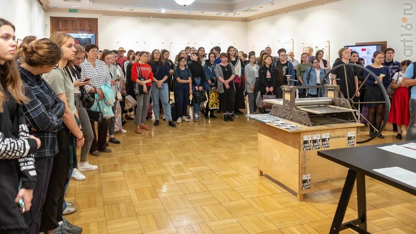 Открытие выставки  V Казанской международной биеннале печатной графики ʺВсадникʺ::5-я Казанская международная биеннале печатной графики «Всадник»