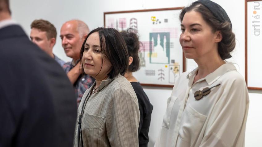 Фото №962222. На открытии выставки V Казанской международной биеннале печатной графики