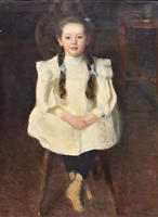 Портрет Адочки Визель. 1906. Визель Э.О.