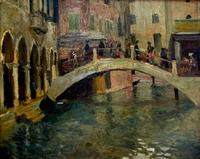 Венеция. Мост через канал. 1913. Визель Э,О.