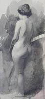 Натурщица со спины. 1890-е. Визель Э,О.