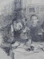 Художник К.Первухин рисует для детей. Нач. 1910-х. Визель Э.О.