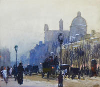 Улица в Париже. 1900-е. Визель-Штраус А.Э.