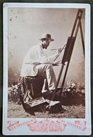 Э.О.Визель на этюдах. Фотография. 1900-е