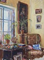 Интерьер с портретом. 1960-е гг. Визель Т.Э.