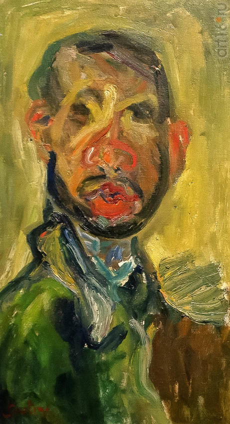 Автопортрет. Около 1920-1921. Хаим Сутин (1894-1943), Россия-Франция::Матисс. Пикассо. Шагал...
